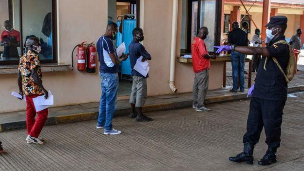 Social distancing in Uganda