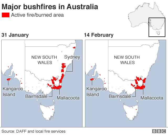 AS graph showing the fires in Australia