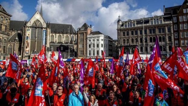 Демонстрация в Голландии