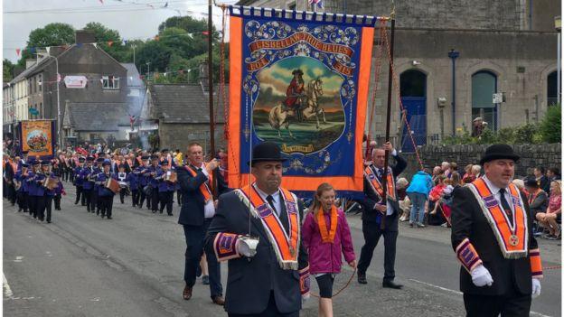 Parade in Lisnaskea