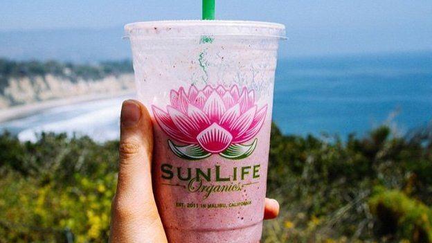 Um smoothie da SunLife Organics
