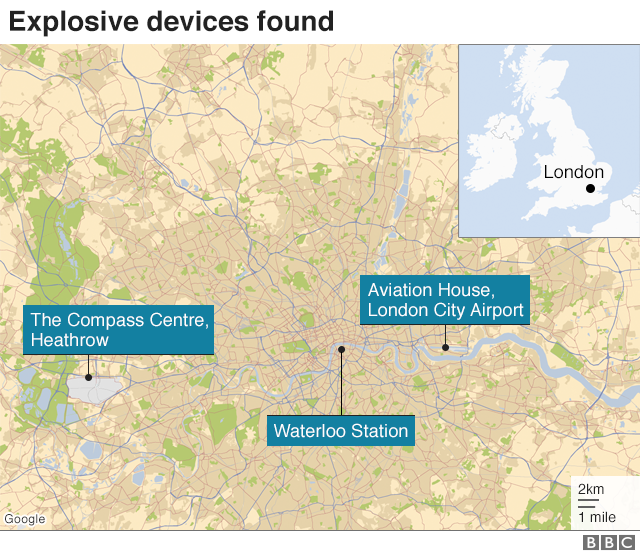 A map of the devices found in London