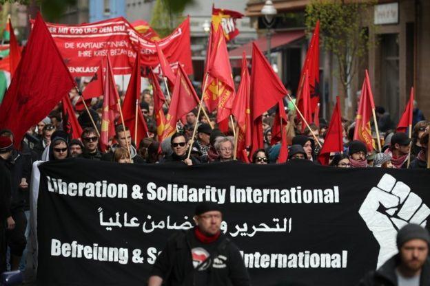 روز جهانی کارگر در برلین آلمان