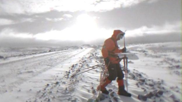 Lou Rudd in Antarctica