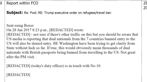Foreign Office email