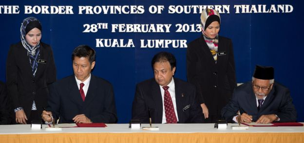 ฮัสซัน ตอยิบ แกนนำกลุ่มบีอาร์เอ็น ลงนามข้อตกลงสันติภาพกับทางการไทยเมื่อปี 2013