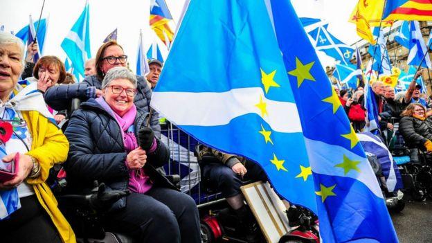 Scottish/EU flag