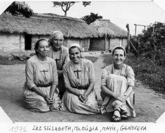 Freiras em aldeia no Mato Grosso