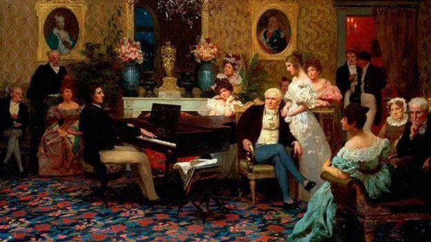 Cuadro del pintor Hendryk Siemiradzki (1887): Chopin tocando para la familia Radziwiłłs. (Foto: IMAGES.FINEARTAMERICA.COM)