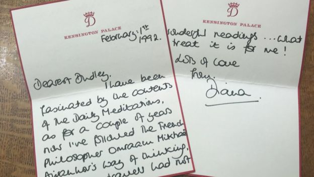 Letter from Princess Diana