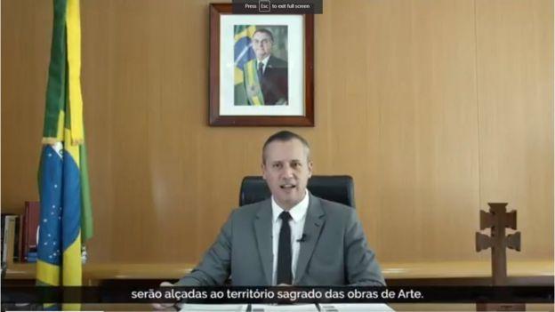 Alvim em vídeo de lançamento do Prêmio Nacional das Artes