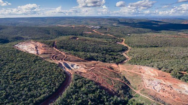 Vista aérea do complexo de Caetité, na Bahia