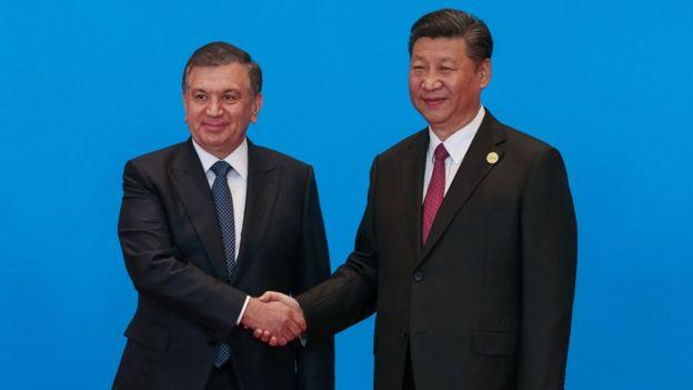 Президент Мирзиёев Пекинда
