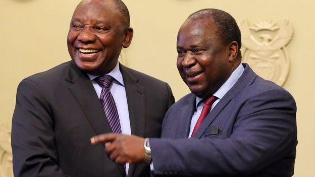 Cyril Ramaphosa and Tito Mboweni