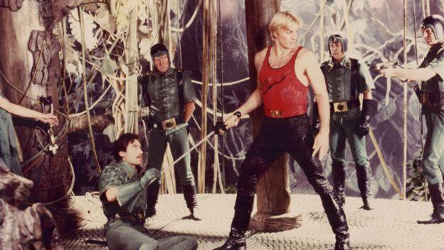 """Escena de la película """"Flash Gordon"""""""
