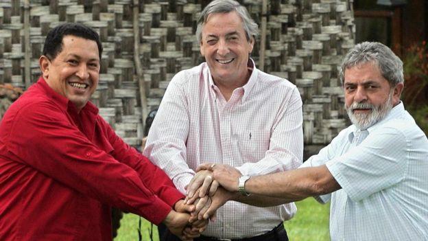 Chavez, Kirchner, Lula