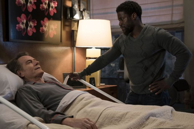 Bryan Cranston and Kevin Hart in The Upside