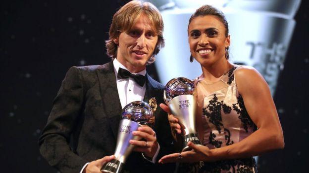 Luka Modric y Marta