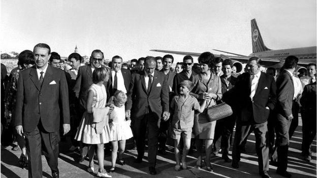 Alfredo Di Stéfano con su familia