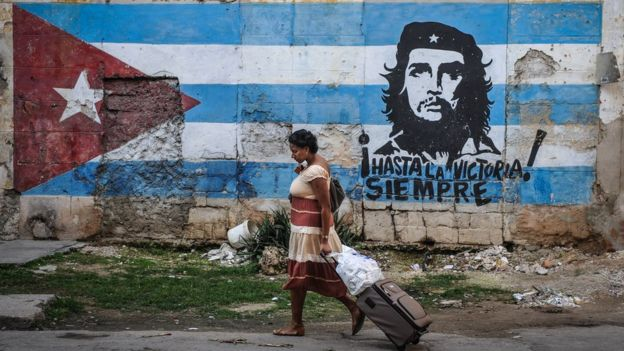 A mural of Che Guevara in Havana