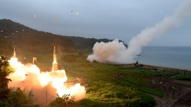 美韩联合导弹演习