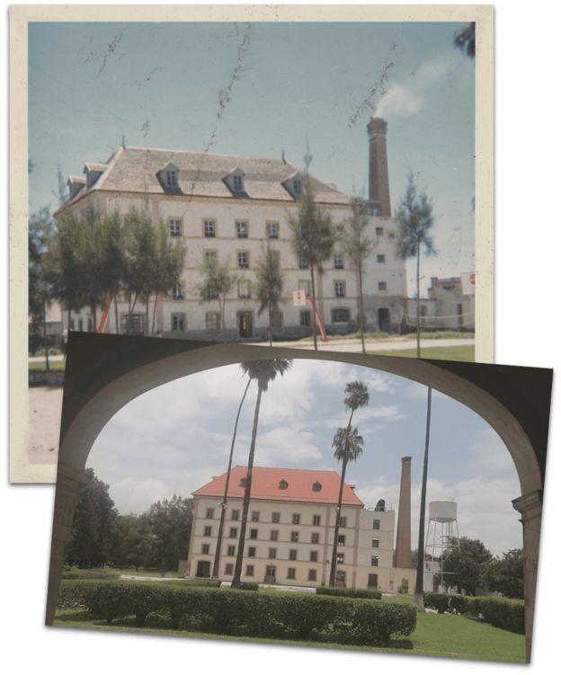 Antes y ahora de un edficio de la finca Santa Rosa