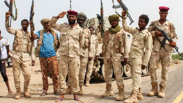 Sudanese forces have been fighting in Yemen with the Arabs.
