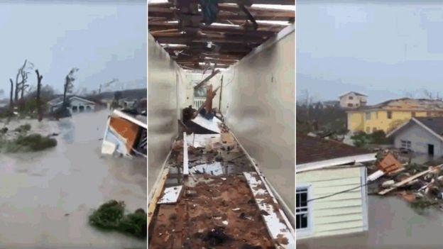 Destrucción causada por el huracán Dorian en Bahamas.