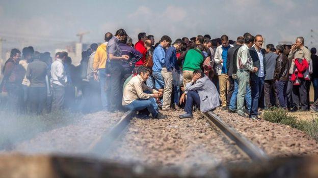 کارگران هپکو مجدداً خط آهن شمال جنوب ایران را مسدود کردند