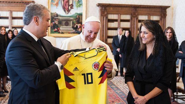El presidente colombiano, Iván Duque, en el Vaticano