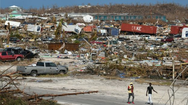 Devastation in Great Abaco