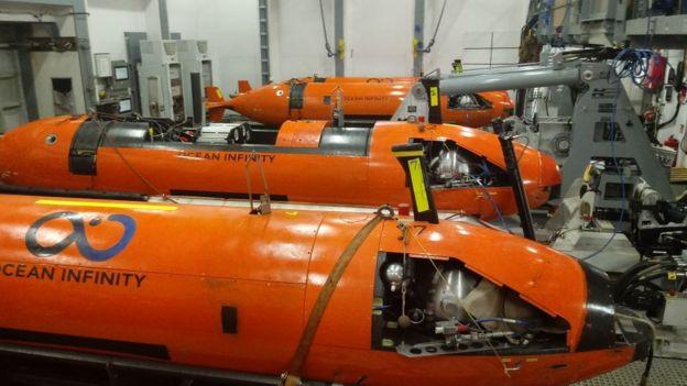 AUV, ou veículos submarinos autônomos, da Ocean Infinity