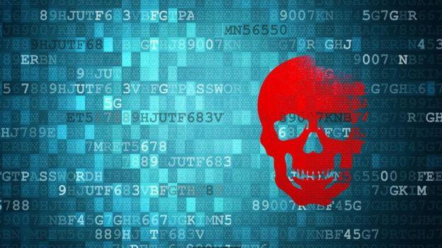 Impresión artística de malware