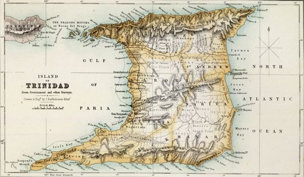 Map of Trinidad (1872)