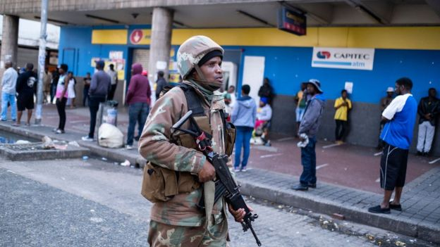 South Africa in lockdown