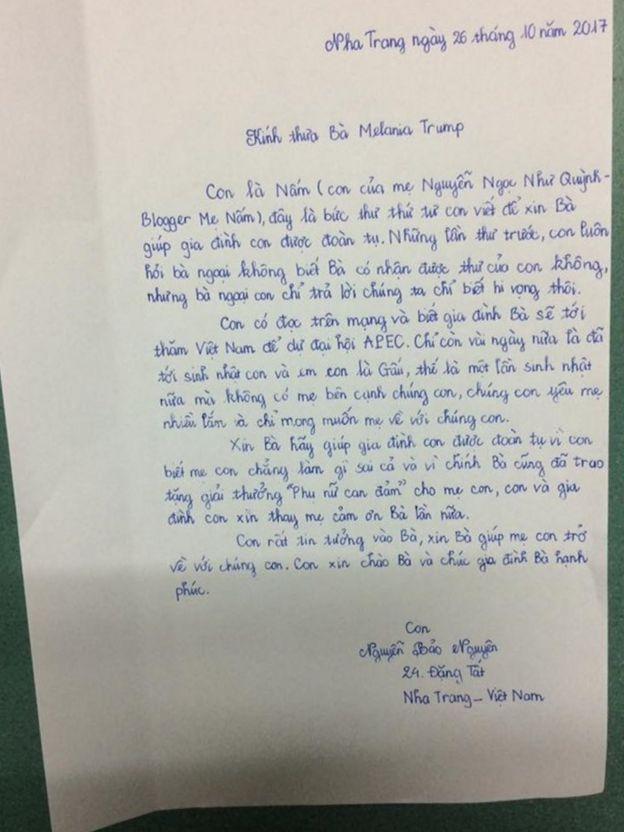 Lá thư của con gái lớn của blogger Mẹ Nấm
