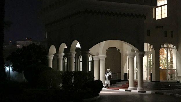 Taliban ve ABD arasında arasındaki görüşmeler, Doha'daki binada yapılıyordu.