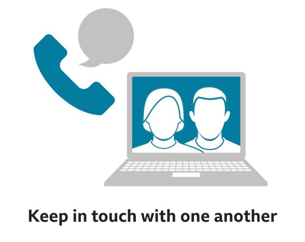 Keep in touch with one another