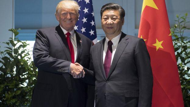 El presidente de EEUU, Donald Trump, y el de China, Xi Jinping.
