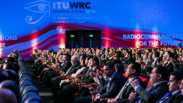More than 3,000 delegates are gathered at the WRC-19 conference in Egypt