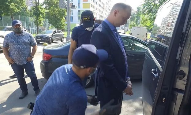 Safronov being searched by FSB, 7 Jul 20