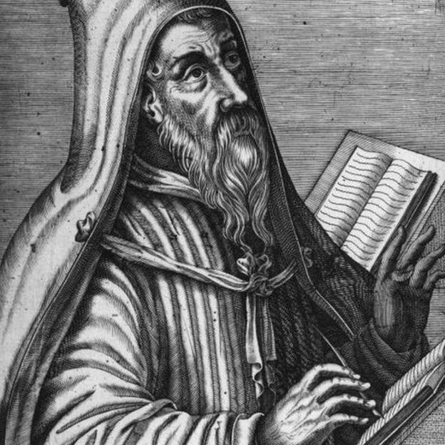 Una ilustración de San Agustín