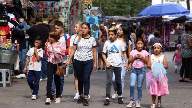 Una familia en Ciudad de México.