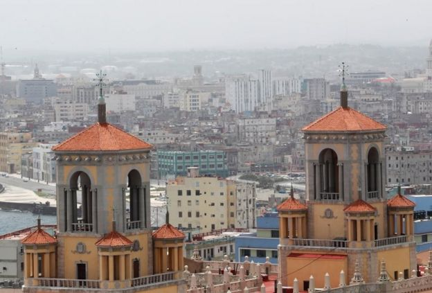 Poeira do Saara em Havana