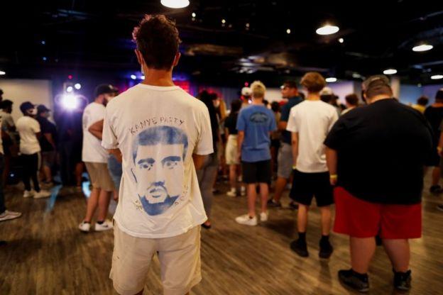 Asistentes al mitin de Kanye West en Carolina del Sur
