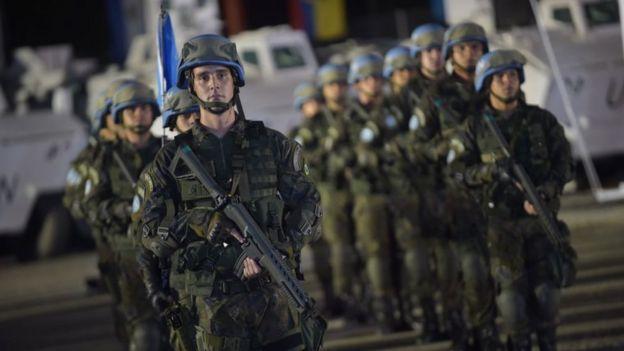 Efectivos de la paz de la ONU