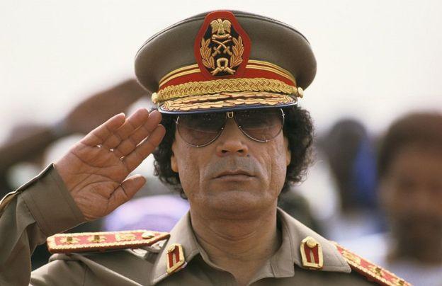الزعيم الليبي الراحل