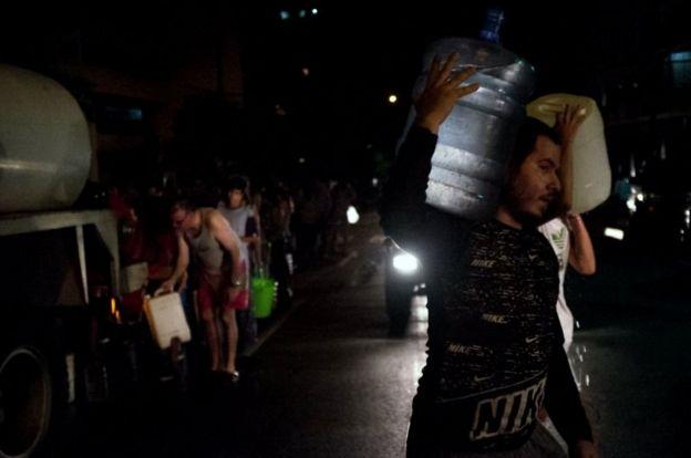 Agua distribuida.