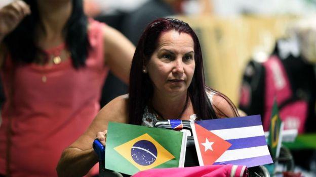 Médica cubana en Brasil.