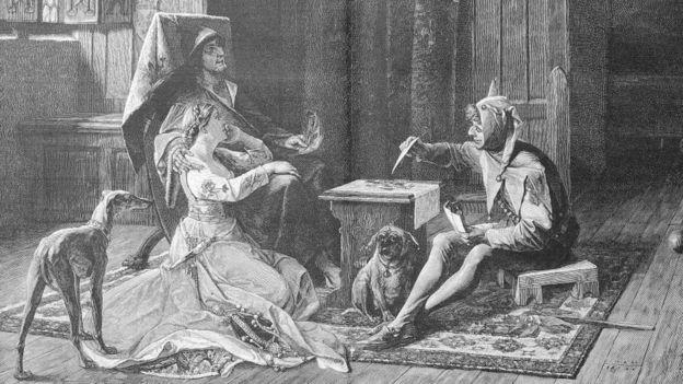 Король Франции Карл VI с шутом